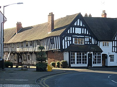 Half timbered houses at Alcester