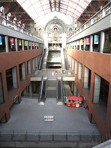 The new part of Antwerp Central railway station