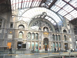 The old part of Antwerp Central railway station