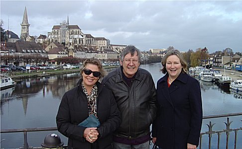 Sue, Roger and Anna at Auxerre