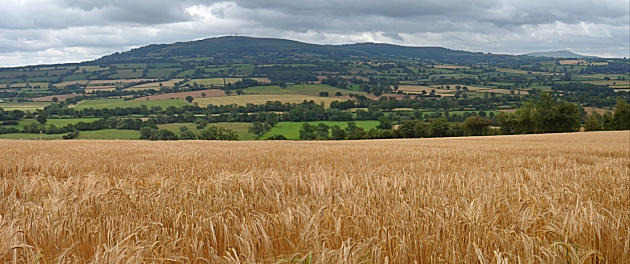 Brown Clee and Titterstone Clee Hills from Wenlock Edge