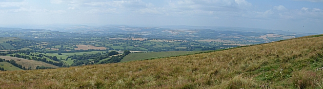Looking South West from Brown Clee Hill