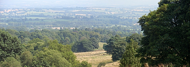 Looking over Burwarton Estate from Brown Clee Hill