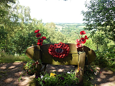 Bench on Kinver Edge in memory of an SAS soldier
