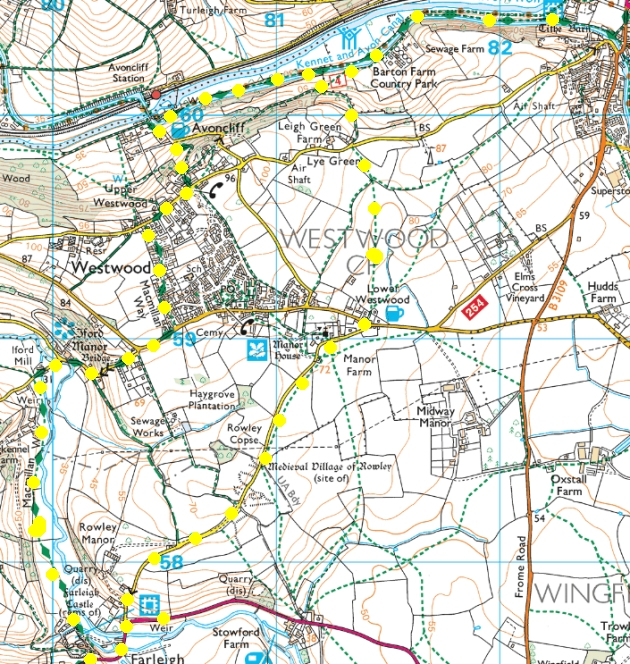 Map of walk area