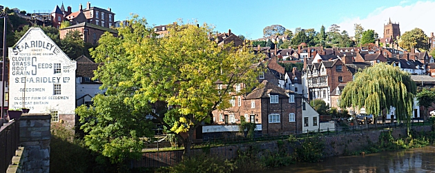 The High town of Bridgnorth from the Low town