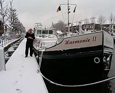 Norman Veit playing in the snow