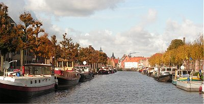 The Coupure yacht harbour in Bruges