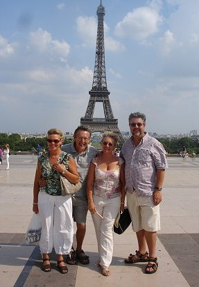 The Hockey's and Biddle's at the Eiffel