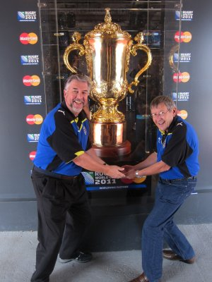 Us with the Webb Ellis cup