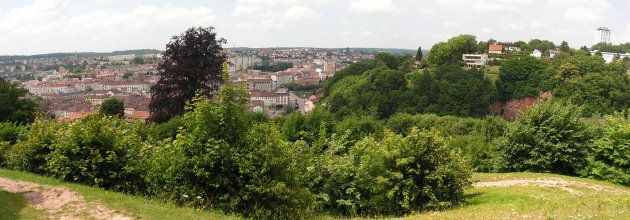 Epinal - the city from the fort