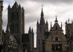 The towers of Gent