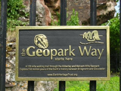The start of the Geopark Way.