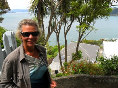 Sue's old lodgings in Oriental Bay Wellington