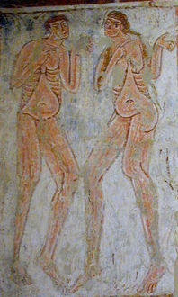 Adam and Eve in Hardham Church