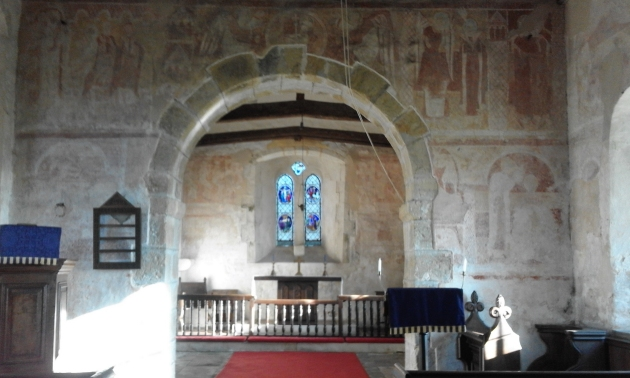 Hardham Church interior