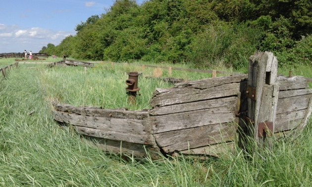 The resting place of the last Kennet Barge Harriett