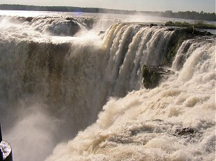 The main Iguacu falls Argentina