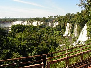 A section of the Argentine Iguacu falls