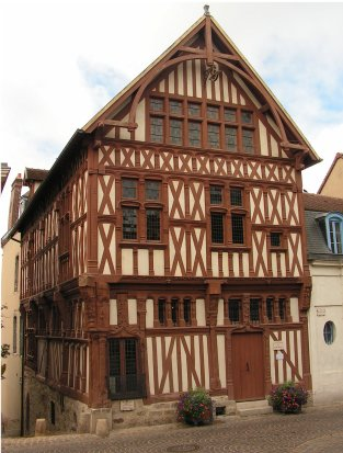 Half timbered house in Joigny