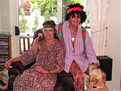 Mike and Diane as hippies