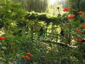 Japanese bridge in Monet's garden at Giverny