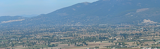 Assisi and Spello from Montefalco
