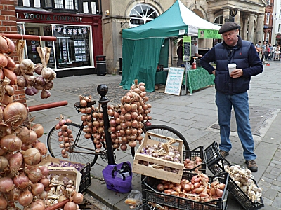 French Onion Seller at Ludlow Food Festival