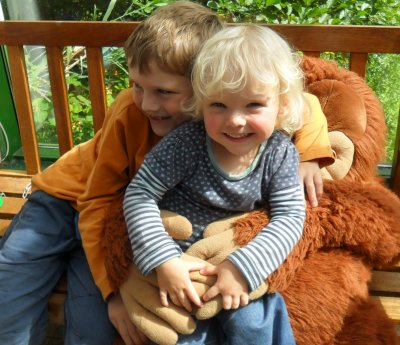 Henry and Matilda at Paignton Zoo