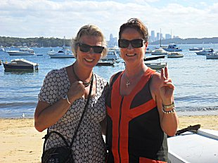 Sue and Sarah at Watsons Bay