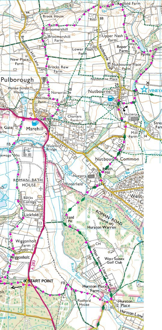 Map of Sussex walk