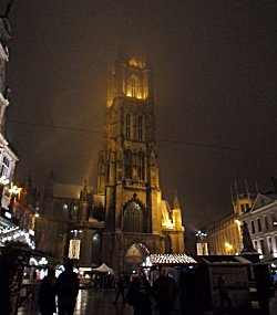 Saint Baafs Cathedral Gent and Xmas Market