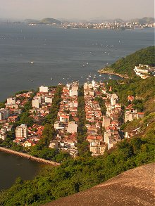 Rio Bay from the top of the first sugarloaf cable car