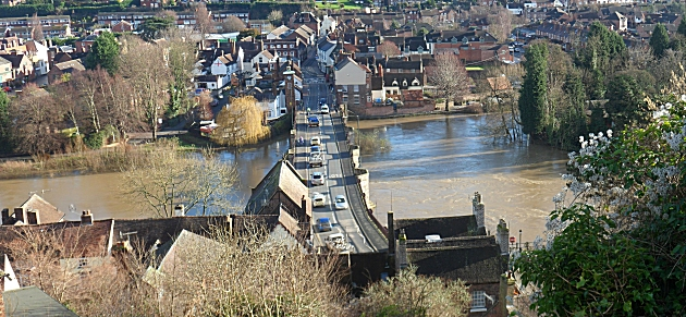 The Severn in flood
