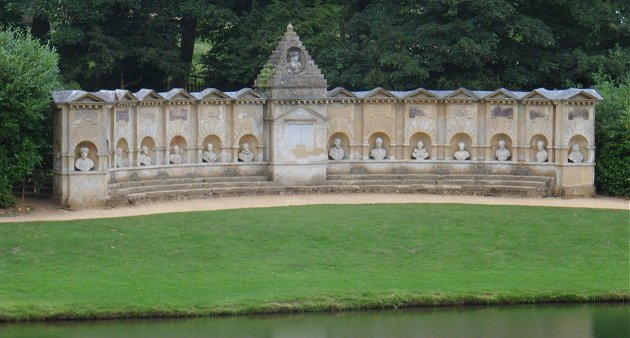 The Temple of British Worthies at Stowe House Gardens