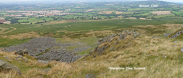 Summit view from Titterstone Clee Hill looking North
