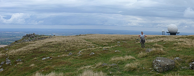 Summit view from Titterstone Clee Hill looking East