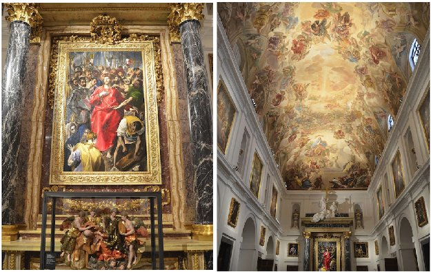 Toledo Cathedral Sacristry and The Disrobing of Christ by el Greco