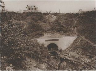 Bony tunnel in 1918 after liberation by Australian troops