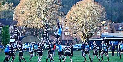 Bridgnorth lineout against Veseyans