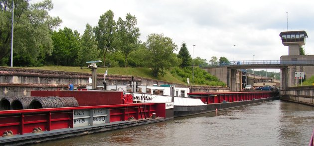 Big barge on the Moselle